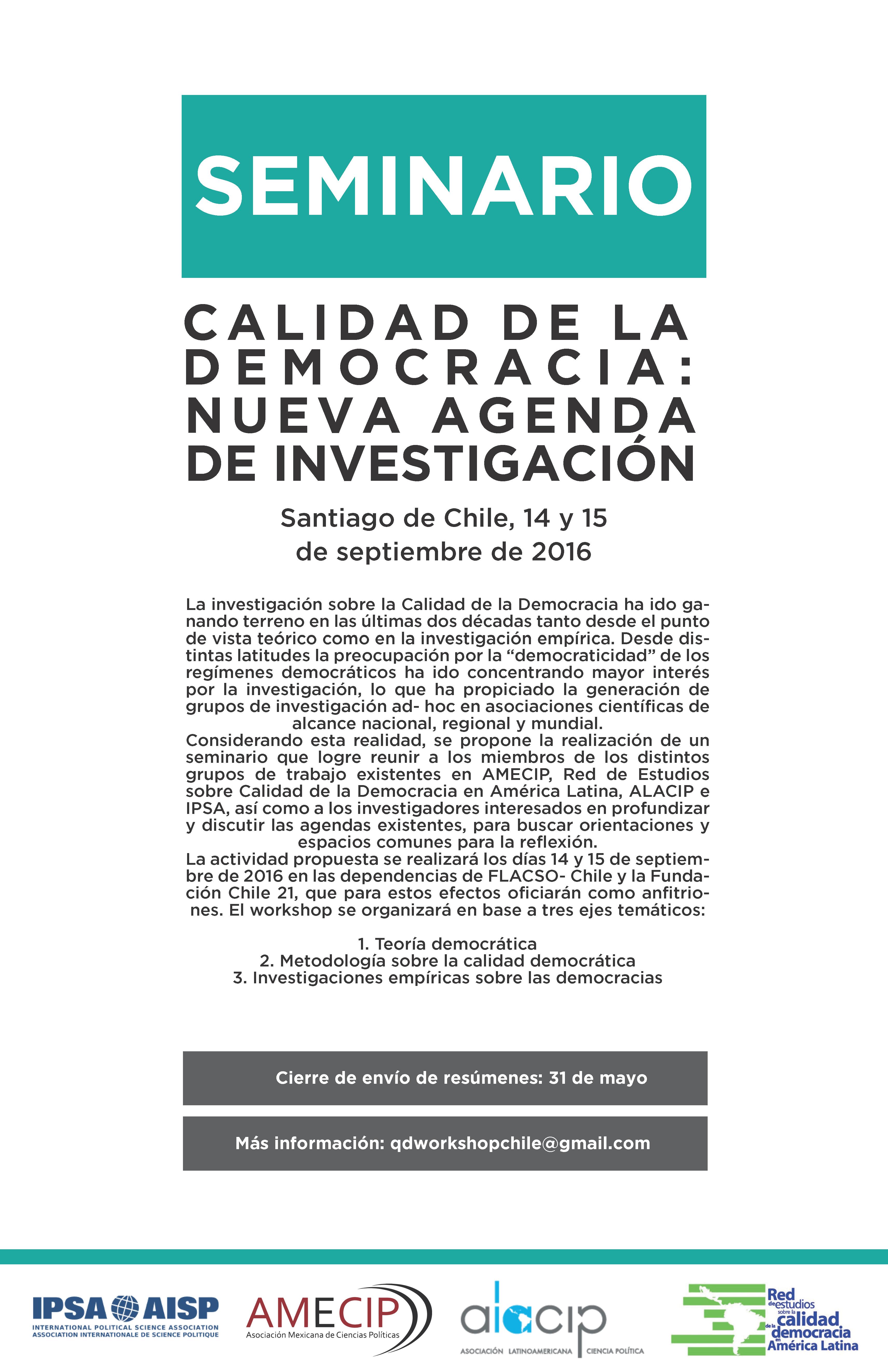 seminario calidad de la democracia chile 2016
