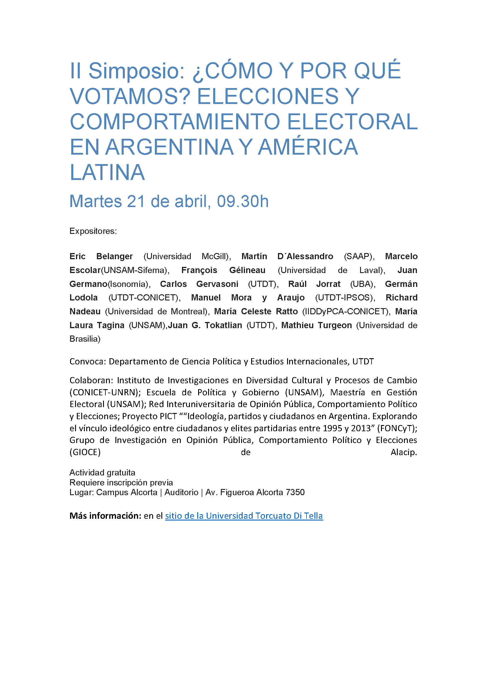 II Simposio Comportamiento Electoral