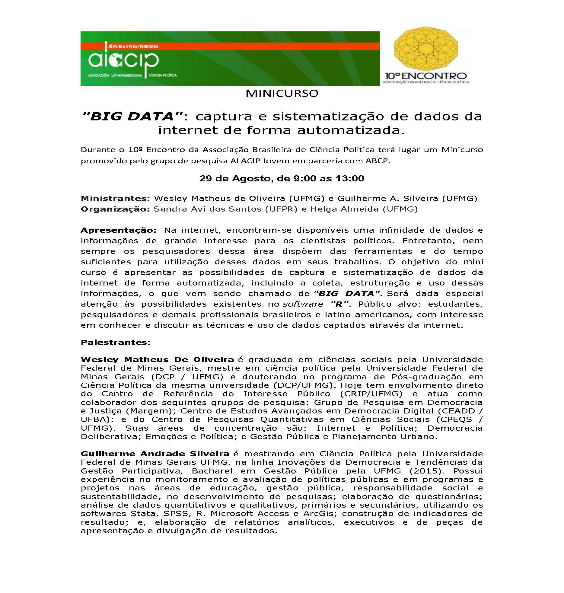 MINICURSO abcp2016